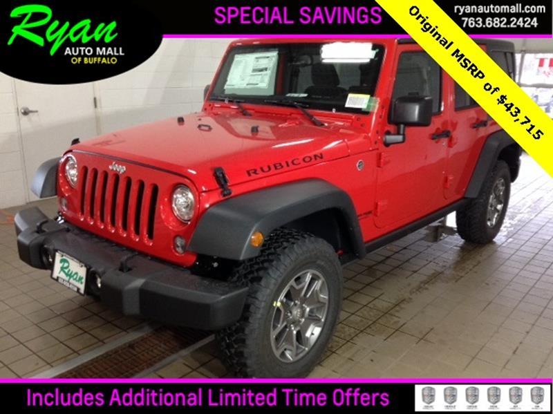 2018 jeep wrangler unlimited unlimited rubicon in buffalo for Ryan motors buffalo mn