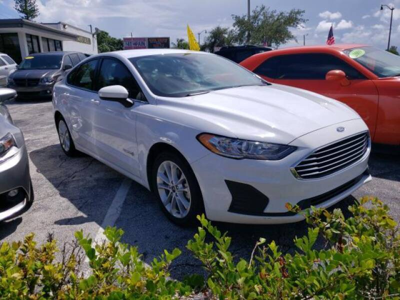 2019 Ford Fusion Hybrid for sale at Mike Auto Sales in West Palm Beach FL