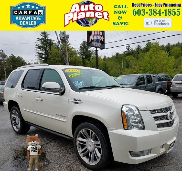 2013 Cadillac Escalade for sale at Auto Planet in Goffstown NH