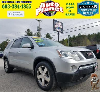 2011 GMC Acadia for sale at Auto Planet in Goffstown NH