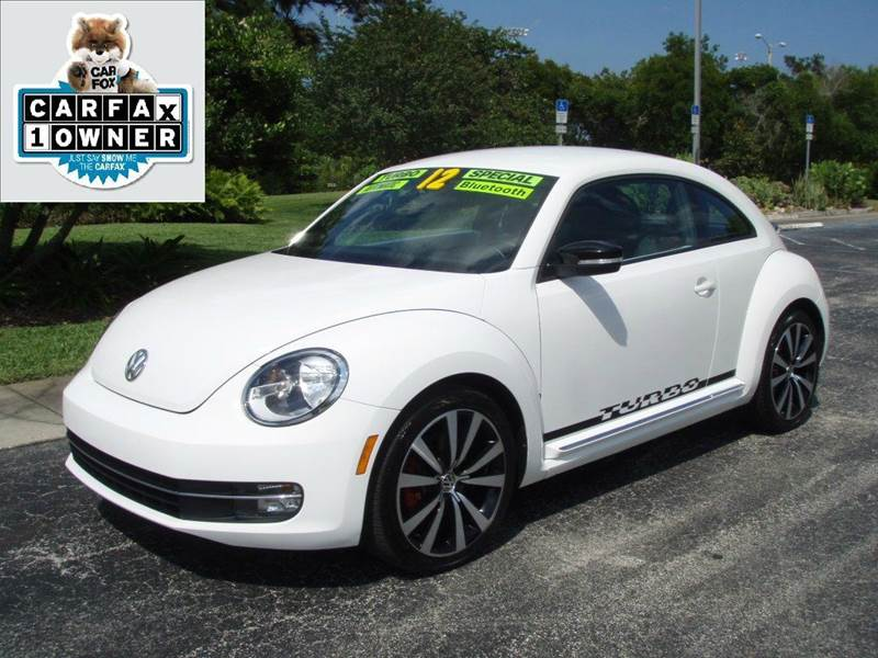 2012 Volkswagen Beetle White Turbo PZEV 2dr Hatchback - New Smyrna Beach FL