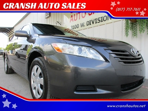 2008 Toyota Camry for sale at CRANSH AUTO SALES, INC in Arlington TX