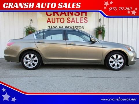 2010 Honda Accord for sale at CRANSH AUTO SALES, INC in Arlington TX