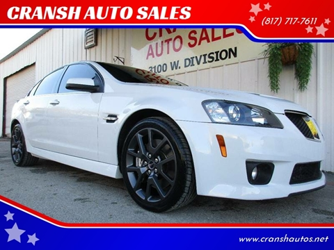 2009 Pontiac G8 for sale at CRANSH AUTO SALES, INC in Arlington TX