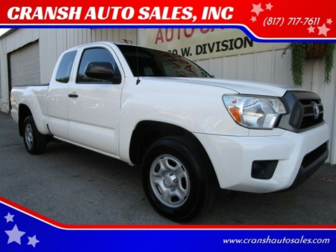 2015 Toyota Tacoma for sale at CRANSH AUTO SALES, INC in Arlington TX