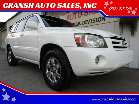 2007 Toyota Highlander for sale at CRANSH AUTO SALES, INC in Arlington TX