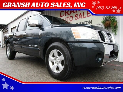 2005 Nissan Titan for sale at CRANSH AUTO SALES, INC in Arlington TX