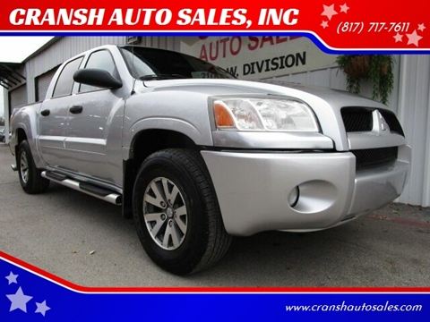 2007 Mitsubishi Raider for sale at CRANSH AUTO SALES, INC in Arlington TX