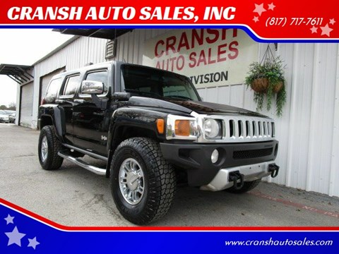2008 HUMMER H3 for sale at CRANSH AUTO SALES, INC in Arlington TX