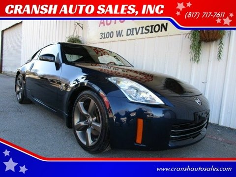 2008 Nissan 350Z for sale at CRANSH AUTO SALES, INC in Arlington TX
