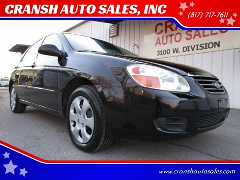 2007 Kia Spectra for sale at CRANSH AUTO SALES, INC in Arlington TX