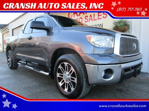 2012 Toyota Tundra for sale at CRANSH AUTO SALES, INC in Arlington TX