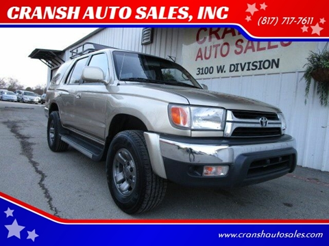 2002 Toyota 4Runner for sale at CRANSH AUTO SALES, INC in Arlington TX