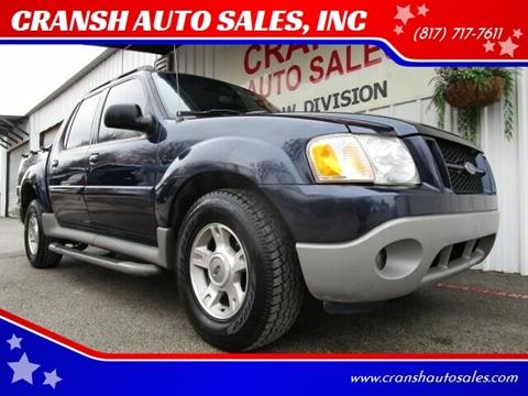 2003 Ford Explorer Sport Trac for sale at CRANSH AUTO SALES, INC in Arlington TX