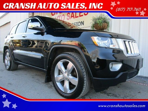 2013 Jeep Grand Cherokee for sale at CRANSH AUTO SALES, INC in Arlington TX