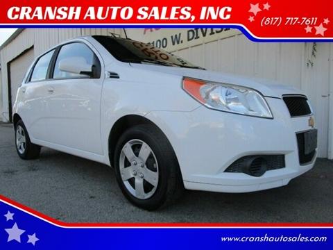 2011 Chevrolet Aveo for sale at CRANSH AUTO SALES, INC in Arlington TX