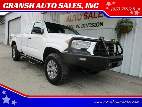 2016 Toyota Tacoma for sale at CRANSH AUTO SALES, INC in Arlington TX