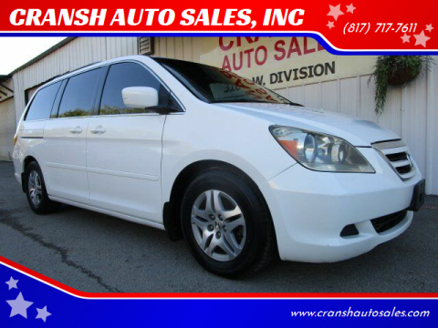 2006 Honda Odyssey for sale at CRANSH AUTO SALES, INC in Arlington TX