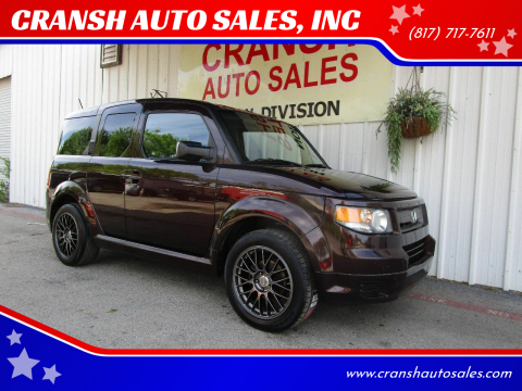 2008 Honda Element for sale at CRANSH AUTO SALES, INC in Arlington TX
