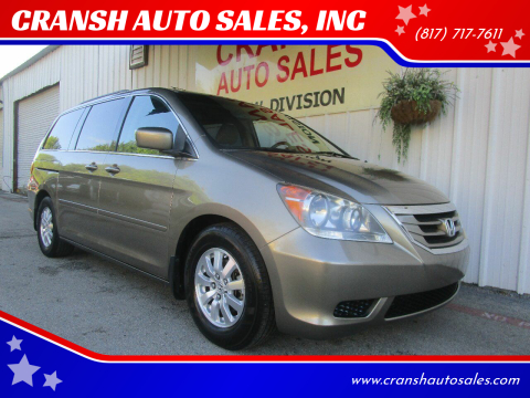 2009 Honda Odyssey for sale at CRANSH AUTO SALES, INC in Arlington TX