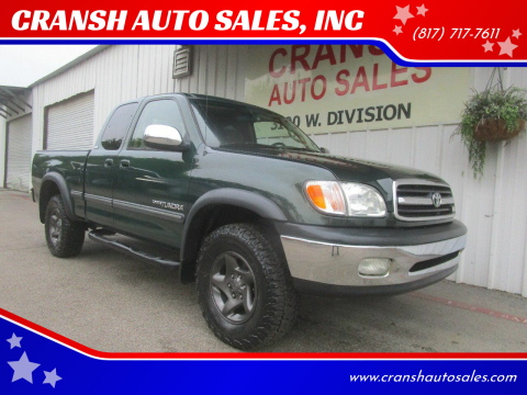 2001 Toyota Tundra for sale at CRANSH AUTO SALES, INC in Arlington TX
