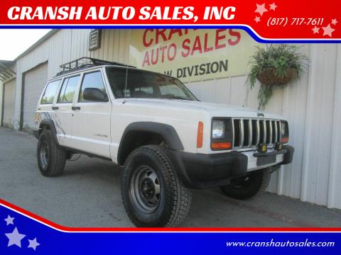 1997 Jeep Cherokee for sale at CRANSH AUTO SALES, INC in Arlington TX