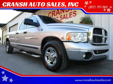 2003 Dodge Ram Pickup 2500 for sale at CRANSH AUTO SALES, INC in Arlington TX