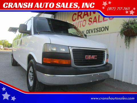 2012 GMC Savana Passenger for sale at CRANSH AUTO SALES, INC in Arlington TX