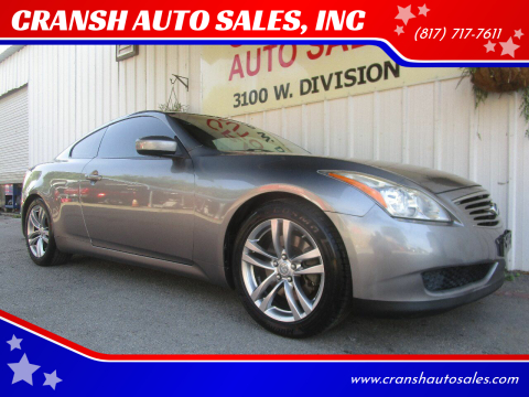 2008 Infiniti G37 for sale at CRANSH AUTO SALES, INC in Arlington TX