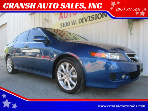 2007 Acura TSX for sale at CRANSH AUTO SALES, INC in Arlington TX