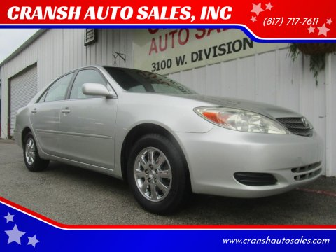 2003 Toyota Camry for sale at CRANSH AUTO SALES, INC in Arlington TX