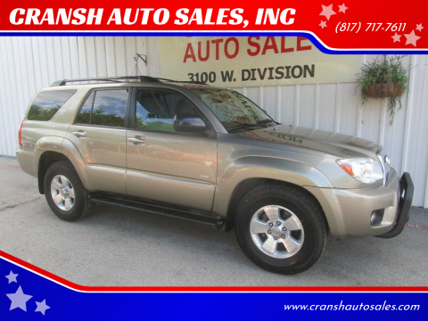 2007 Toyota 4Runner for sale at CRANSH AUTO SALES, INC in Arlington TX