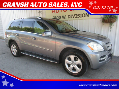 2012 Mercedes-Benz GL-Class for sale at CRANSH AUTO SALES, INC in Arlington TX