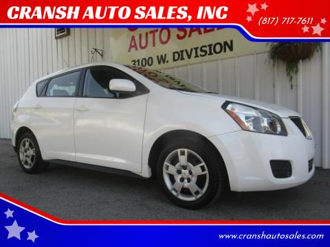 2009 Pontiac Vibe for sale at CRANSH AUTO SALES, INC in Arlington TX