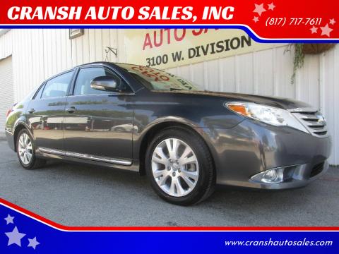 2011 Toyota Avalon for sale at CRANSH AUTO SALES, INC in Arlington TX