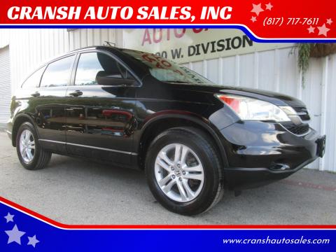 2011 Honda CR-V for sale at CRANSH AUTO SALES, INC in Arlington TX