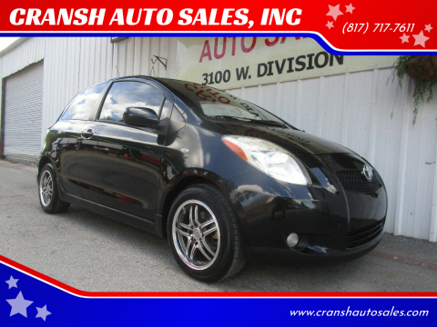 2008 Toyota Yaris for sale at CRANSH AUTO SALES, INC in Arlington TX