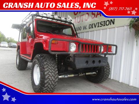 2001 Jeep Wrangler for sale at CRANSH AUTO SALES, INC in Arlington TX
