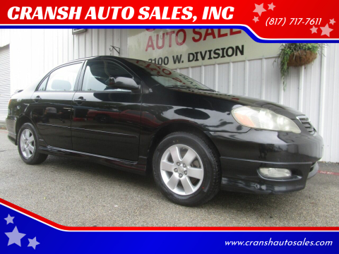 2008 Toyota Corolla for sale at CRANSH AUTO SALES, INC in Arlington TX