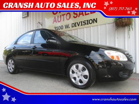 2008 Kia Spectra for sale at CRANSH AUTO SALES, INC in Arlington TX