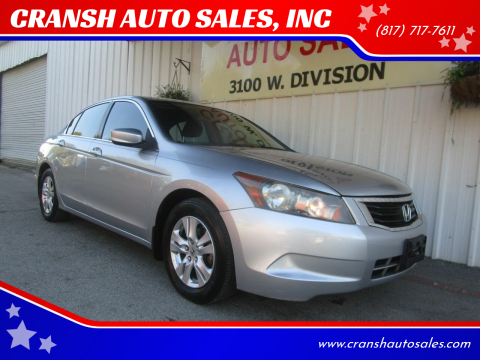 2008 Honda Accord for sale at CRANSH AUTO SALES, INC in Arlington TX