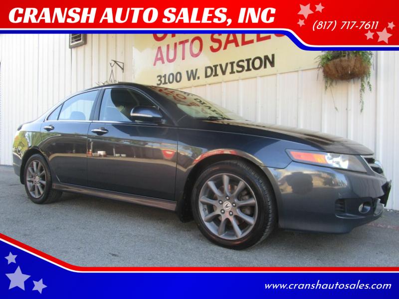 2008 Acura TSX for sale at CRANSH AUTO SALES, INC in Arlington TX