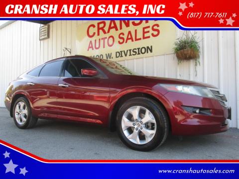2010 Honda Accord Crosstour for sale at CRANSH AUTO SALES, INC in Arlington TX