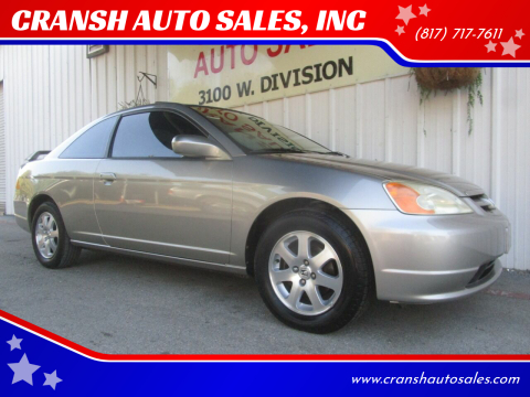 2003 Honda Civic for sale at CRANSH AUTO SALES, INC in Arlington TX
