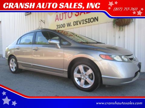 2006 Honda Civic for sale at CRANSH AUTO SALES, INC in Arlington TX