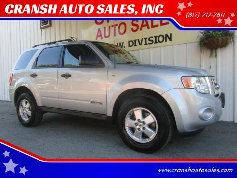 2008 Ford Escape for sale at CRANSH AUTO SALES, INC in Arlington TX
