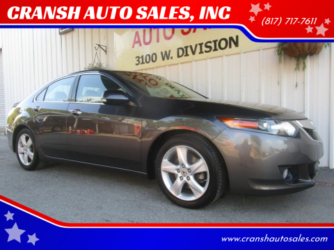 2010 Acura TSX for sale at CRANSH AUTO SALES, INC in Arlington TX