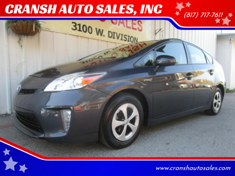 2014 Toyota Prius for sale at CRANSH AUTO SALES, INC in Arlington TX