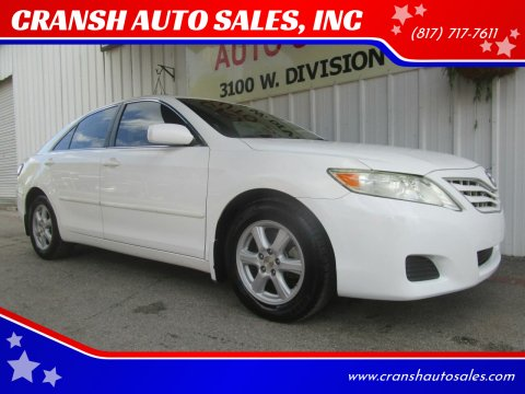 2010 Toyota Camry for sale at CRANSH AUTO SALES, INC in Arlington TX