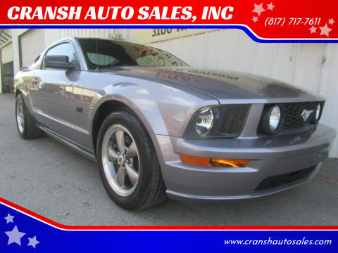 2006 Ford Mustang for sale at CRANSH AUTO SALES, INC in Arlington TX